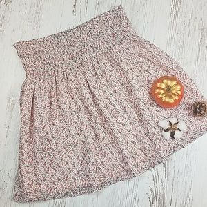 Zara Floral Printed Mini Skirt